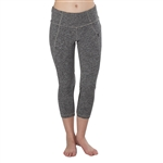 GG Blue Naomi Fitness Legging- Charcoal with Black
