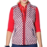 GG Blue Piper Golf Vest Varisty Red