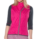 GG Blue Toni Golf Vest - Maraschino with Slate