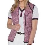 GG Blue Toni Golf Vest - Cherry with Slate