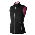 Gerbing Ladies Heated Softshell Vest Black/Pink