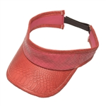 Glove It Ladies Golf Visor Pink Snake
