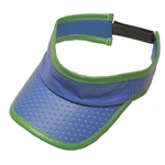 Glove It Ladies Golf Visor Blue Green Perf