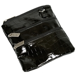 Glove It Signature 3 Zip Bag w/ Strap - Croco