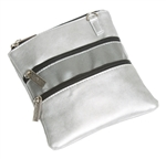 Glove It Signature 3 Zip Bag w/ Strap - Silver Suede