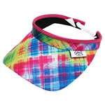 Glove It Electric Plaid Golf Visors (w/Twist Cord)