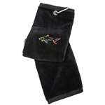 Greg Norman Black Golf Towel