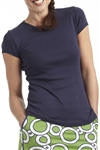 Golftini Crew Neck T-Shirt Navy