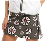 Golftini Scattered Flower Golf Skort