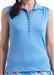 Golftini Blue Sleeveless Tech Polo