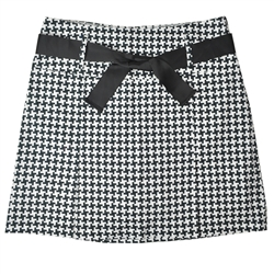 Golftini Pleated Houndstooth Skort