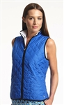 Golftini Blue Quilted Wind Vest