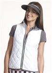 Golftini Quilted Wind Vest - White