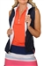 Golftini Quilted Reversible Wind Vest - Navy/White