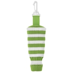 Just4Golf Stripe Knit Ball Holder Lime/White