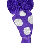 Just4Golf Driver Headcover Sparkle Purple/White Dot