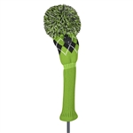 Just4Golf Argyle Lime/Black Fairway Headcover