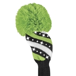 Just4Golf Fairway Sparkle Black/White Stripe