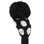 Just4Golf Driver Headcover Large Sparkle Black/White Dot