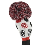 Just4Golf Driver Headcover Sparkle Red/Black Multi Dot