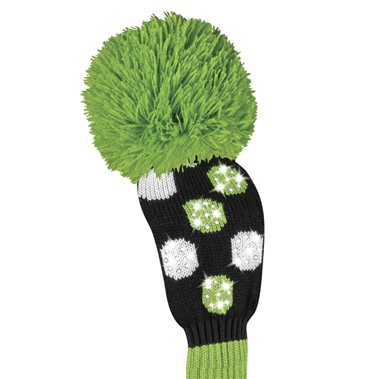 Just4Golf Fairway Headcover Sparkle Lime Multi Dot