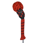 Just4Golf Red/Black Small Dot Hybrid Headcover