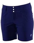 JoFit Belted Golf Short Blue Depth