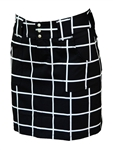 JoFit Belted Golf Skort Black Windowpane