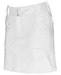 JoFit Belted Golf Skort - White on White Plaid