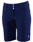 JoFit Belted Bermuda Golf Short Blue Depth