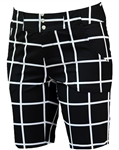 JoFit Belted Bermuda Golf Short Windowpane