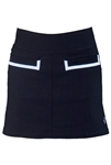 JoFit Vortex Slimmer Golf Skort - Black/White