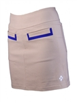 JoFit Fashion Slimmer Skort - Khaki/Blue Depth