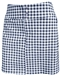 JoFit Signature Golf Skort Grey Buffalo Check