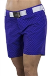 JoFit Belted Golf Short - Violet Gingham