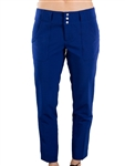 JoFit Belted Cropped Golf Pant - Blue Depth