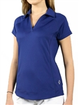 JoFit Jo Tech Short Sleeve Polo – Blue Depth