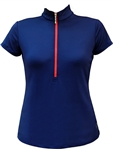 JoFit Amped Short Sleeve Golf Polo Blue Depth