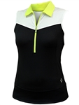 JoFit Straight Up Golf Top - Black