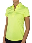 Jofit Jacquard Short Sleeve Polo Citron
