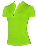 Jofit Jacquard Short Sleeve Polo Neon Green