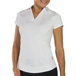 Jofit Jo Tech White Cap Sleeve Polo