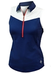 JoFit Straight Up Sleeveless Golf Top – Blue Depth