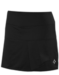 JoFit Black Side Drape Tennis Skort