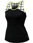 Jofit Ingrid Tennis Tank Black/White Windowpane