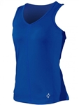 JoFit V-Neck Tennis Tank – Blue Depth