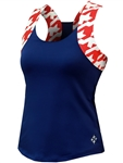 JoFit Lagoon Tennis Tank Blue Depth
