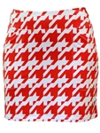 JoFit Mina Golf Skort – Red Houndstooth