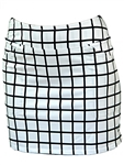 Jofit Mina Golf Skort - White Windowpane