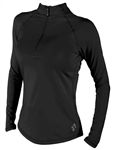 Jofit Long Sleeve Mock Shirt Black
